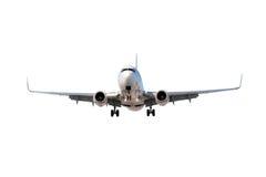 Vliegtuig dat op wit wordt geïsoleerd Royalty-vrije Stock Foto