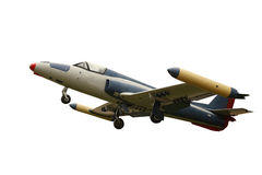 Vliegtuig dat op wit wordt geïsoleerda Royalty-vrije Stock Afbeelding