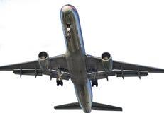 Vliegtuig dat op Wit wordt geïsoleerdh Royalty-vrije Stock Afbeelding