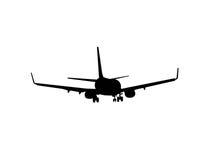 Vliegtuig dat op wit wordt geïsoleerdT Stock Afbeelding