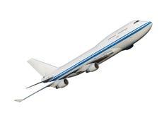 Vliegtuig dat op witte achtergrond wordt geïsoleerdt. Royalty-vrije Stock Afbeeldingen