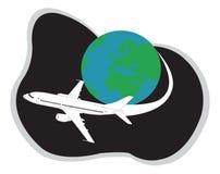 Vliegtuig dat rond reist stock illustratie