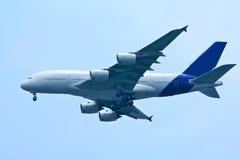 Vliegtuig in de hemel Royalty-vrije Stock Fotografie
