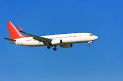 Vliegtuig in de hemel Royalty-vrije Stock Foto