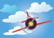 Vliegtuig in de hemel stock illustratie