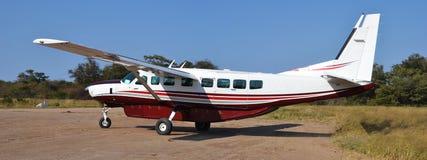 Vliegtuig in de okavangodelta Royalty-vrije Stock Afbeeldingen
