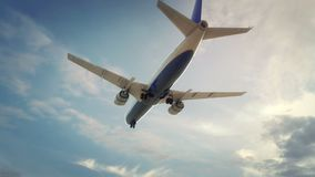 Vliegtuig die Austin de V.S. landen vector illustratie