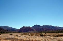 Vliegtuig en bergen - het Noorden van Argentinië/noa, jujuy salta, stock afbeeldingen