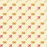 Vliegtuig en het verzenden van patroon Stock Afbeeldingen