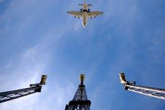 Vliegtuig en luchthaven stock foto's