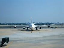 Vliegtuig en luchtvaart stock fotografie