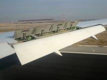 Vliegtuig en luchtvaart stock afbeelding