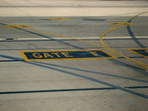 Vliegtuig en luchtvaart Royalty-vrije Stock Afbeelding