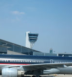 Vliegtuig en luchtvaart Royalty-vrije Stock Foto's