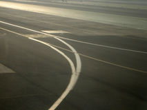 Vliegtuig en luchtvaart Stock Foto
