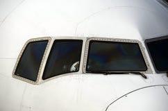 Vliegtuig en luchtvaartlijn proef stock foto's