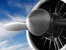 Vliegtuig Engin Royalty-vrije Stock Foto