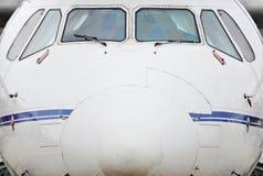 Vliegtuig Front View Stock Afbeelding