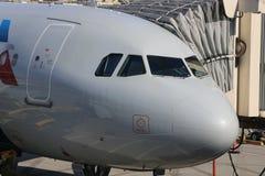 Vliegtuig het dokken Royalty-vrije Stock Foto's
