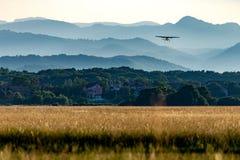Vliegtuig het lanceren Stock Foto