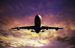 Vliegtuig het Landen Stock Afbeeldingen