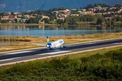Vliegtuig het landen Royalty-vrije Stock Fotografie
