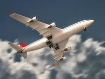 Vliegtuig het opstijgen Royalty-vrije Stock Foto