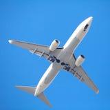 Vliegtuig het opstijgen Stock Foto