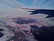 Vliegtuig het vliegen Royalty-vrije Stock Foto's