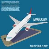 Vliegtuig, instapkaart, Royalty-vrije Stock Afbeelding