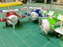 Vliegtuig klein model Royalty-vrije Stock Afbeeldingen