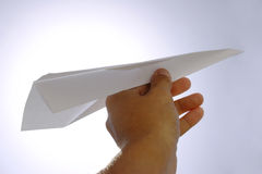 Vliegtuig Laucnh Royalty-vrije Stock Afbeeldingen