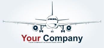 Vliegtuig Logo Abstract Lines Design Creatief vectorpictogram Vector i vector illustratie