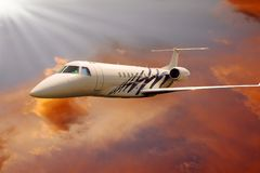 Vliegtuig in lucht royalty-vrije stock afbeeldingen