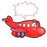 Vliegtuig met buble teksten Stock Fotografie