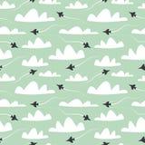Vliegtuig Naadloos patroon vector illustratie