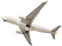 Vliegtuig op een witte achtergrond Royalty-vrije Stock Afbeelding