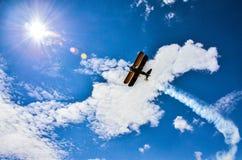 Vliegtuig op hemel 3 Stock Fotografie