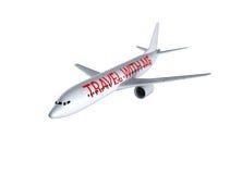 Vliegtuig op wit Stock Afbeeldingen