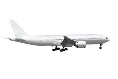 Vliegtuig op witte achtergrond Stock Fotografie
