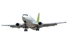 Vliegtuig op witte achtergrond royalty-vrije stock afbeelding