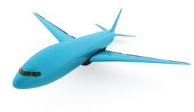 Vliegtuig op witte achtergrond wordt geïsoleerd die Stock Afbeelding