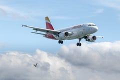 Vliegtuig Santander, Cantabrië/Spanje-06/11/2018 stock afbeeldingen