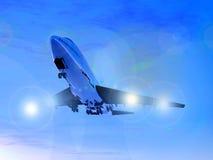Vliegtuig tijdens de vlucht 18 Stock Afbeelding
