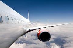 Vliegtuig tijdens de vlucht Royalty-vrije Stock Fotografie