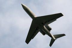 Vliegtuig tijdens start Stock Foto