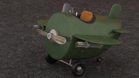Vliegtuig van de beeldverhaal Retro Vechter royalty-vrije illustratie