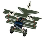 Vliegtuig van de beeldverhaal Retro Vechter op wit wordt ge?soleerd dat royalty-vrije illustratie