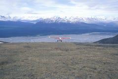 vliegtuig van de de Pijperstruik van ï ¿ ½ het Super Cubï ¿ ½ in St Elias National Park en Domein, Wrangell-Bergen, Wrangell, Ala Stock Afbeelding