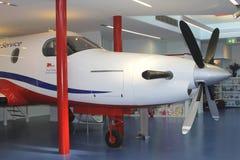 Vliegtuig van de Koninklijke Vliegende Arts Service, Alice Springs, Australië Stock Afbeelding